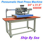 24 X 31.5 Heating Plate Movable Double Station Peneumatic Heat Press Machine