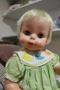 Vintage 1963 Tickles Battery Operated Laughing Baby Doll 20 By Deluxe Reading