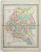 Russia In Europe Including Poland C1840 Genuine Antique Map John Betts