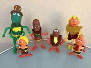 Lyra Greek Toy Maya The Bee And Family Pack Lot X6 Vintage Figure 70s