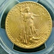 1924 Pcgs Ms63 20 Saint Gaudens Gold Double Free Shipping