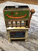 Vintage 1980s Savings Bank Toy Slot Machine Still Lights Up Takes Aa Batteries