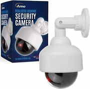 Fake Security Camera Dummy Camera Dome Shaped Decoy Realistic Look Surveillance