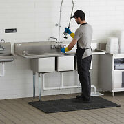70 3 Compartment Stainless Steel Nsf Commercial Sink With 2 Drainboards