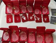 Set 12 Waterford Crystal 12 Days Of Christmas Boxed Ornaments W/1982 Partridge