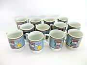 Set Of 12 1970and039s Vintage Maxwell House Coffee Cup Mugs Pedestal Footed