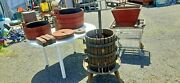 Scarce Quality 5 + Pc Baccellieri Bros Antique Wine Makers Press