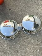 2 1947-48 Lincoln Contental Hubcaps Restored Excellent Condition