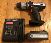 """Craftsman 16v Lithium-ion 3/8"""" Drill Driver Charger And Battery Bundle Works Great"""