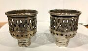 Antique Filigree Rogers Sterling Silver Candle Hurricane Lamp Adapter Holder 11