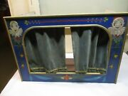 Antique Toy Stage For Puppets/miniature Dolls Wood Hand Painted All Original