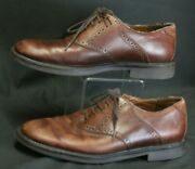 Authentic Johnston And Murphy Brown Leather Menand039s Durst Saddle Shoes 9.5m Oxfords