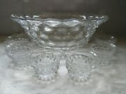 Fostoria American 15 Punch Bowl Set Clear Bowl And Cup