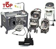 Baby Stroller Travel System With Car Seat Swing Playard Chair Bag Best Price Set