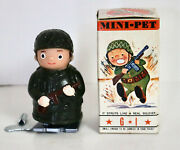Tomy Mini-pet Wind Up Gi Soldier Toy In Box Vintage