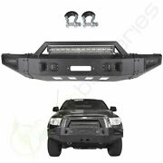 Powder Coated Front Bumper Assembly Winch Ready W Lights For 07-13 Toyota Tundra
