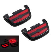 Red Light Passenger Footboard Floorboard Cover Fit For Harley Trike Dyna 1987-19