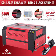 Omtech 60w 28x20 Co2 Laser Engraver Cutter Engraving Ruida With Rotary Axis B