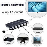 4k 60hz 1080p Hdmi 2.0 Video Converter 4 In 1 Out 4x1 Switch 4 Laptop Pc To 1 Tv
