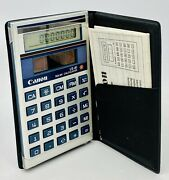 Vintage Canon Solar Calculator - Ls-41 - With Case And Manual - Tested And Working
