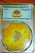 1857 Ss Central America Shipwreck Pcgs One Dollar Of Gold Rush Nuggets 1.5 Grams