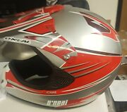 O'neal Helmet Wf549 Mx Motorcycle Helmet Red, Adult S, Snell / Dot Approved, New