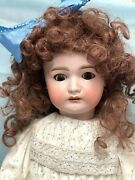 Antique Bisque Mystery Doll 27 Marked 70 With German Bj Composition Body