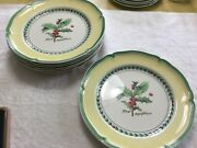 Villeroy And Boch French Garden Christmas Dinner Plate 10 1/2andrdquo New 7 Available