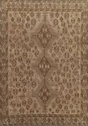 Antique Muted Distressed Hand-knotted Traditional Evenly Low Pile Area Rug 7x9