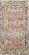 Antique Floral Distressed Traditional Oriental Area Rug Wool Hand-knotted 5x8 Ft