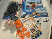 7738 Lego Coast Guard Helicopter With Life Raft With Manuals Great Condition