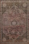 Antique Geometric Traditional Oriental Area Rug Wool Hand-knotted Carpet 7x9 Ft