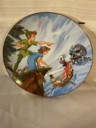 Disney Collection First Edition Peter Pan Collectors Plate-capture Of Tiger Li