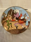 Disney Collection First Edition Peter Pan Collectors Plate-the Dual