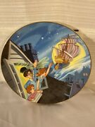 Disney Collection First Edition Peter Pan Collectors Plate-safely Home Again