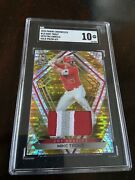 Mike Trout 2020 Chronicles Spectra Gold Prizm Swatch 4/5 Angels Sgc Gem Mint 10