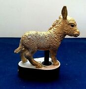 Rare Schleich Golden Donkey Store Display Promotional Gold Animal Horse Figure