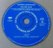 Celine Dion And Barbra Streisand Tell Him Argentina Promo Cd Single 1997 Top Rare