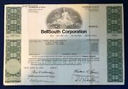 Vintage 1984 Bellsouth Corporation Stock Certificate Wall Street Nyse