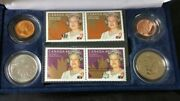2003 Stamp And Coin Set - Queen Elizabeth Ii Coronation Case And Coa