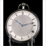 Antique Solid-silver Quarter Repeater Cylinder Pocket Watch. France, Circa 1820