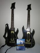 Guitar Hero Live Bundle Ps4 Playstation 4 With 2 Guitars With Straps No Dongles