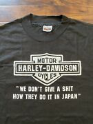 Vintage 70's Or 80's Pacific Harley Davidson Tee Shirt Size Xl Honolulu