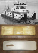 Fiberglass Towboat Hull And Plans Scale 124 Dravo Type Suitable For Radio Control