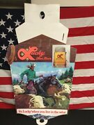 Rare Vintage Lucky Fine Beer Cardboard Store Display Sign. Cowboy.
