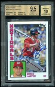 2012 Topps Archives Fan Favorites Bryce Harper Auto Rookie Card Rc - Bgs 9.5/10