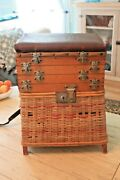 Wooden European Arca Creel, 4, Drawer Tackle Storage And Creel