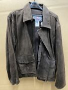 Authentic Disney Brand Indiana Jones Brown Leather Jacket Mens Size Extra Large