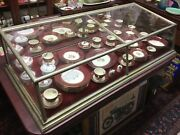 Antique 1900s 30s Glass And Nickle Display Case Made By J.k. Kendall Original