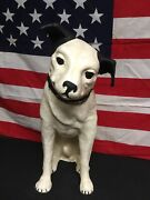 Rare Antique 1917 Paper Mache Rca Nipper Dog With Glass Eyes Only One To Exist
